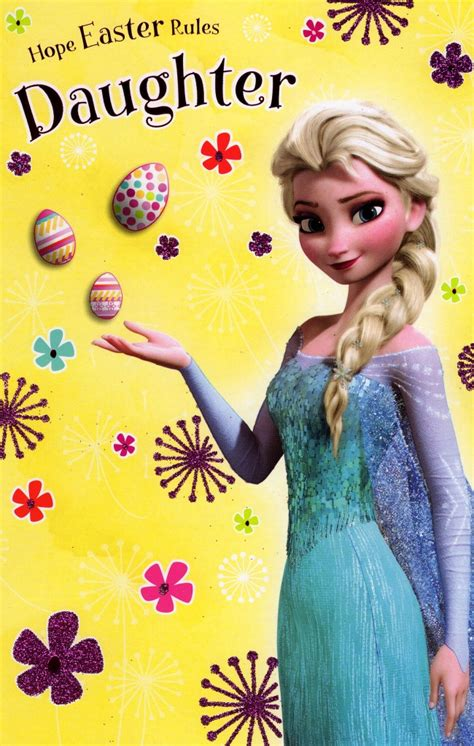 disney frozen daughter easter greeting card cards