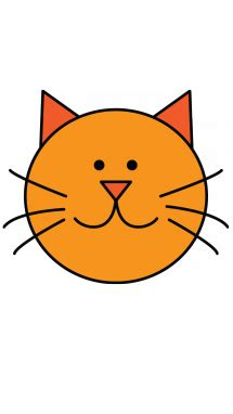 How To Draw A Cat For Kids, Domestic Animals, Easy Stepby