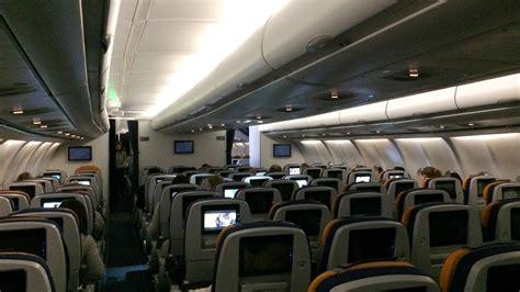 Lufthansa Airbus A340 600 Economy Class Review (TOILET