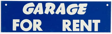 rent a garage garage for rent sign c 1960 omero home