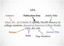 Apa Reference Page Example Journal Article July 2013 Cited At The Oviatt
