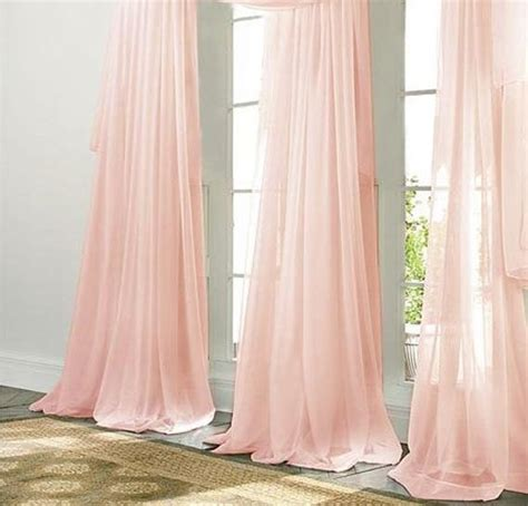 pale pink curtains pale pink chiffon curtain sheer window by zylstraartanddesign