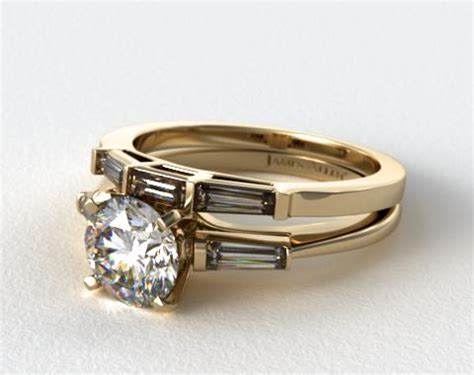 18k yellow gold tapered baguette wedding 1715014201y