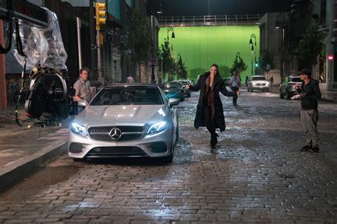 justice league superheroes drive mercedes benz