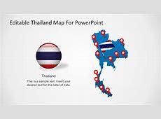 Editable Map of Thailand PowerPoint SlideModel