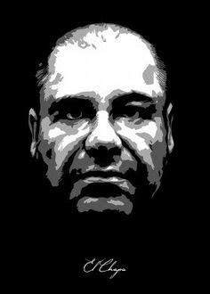 El Chapo Guzman large painting stencil art spray paints