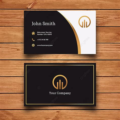 Black And Gold Business Card Template for Free Download on
