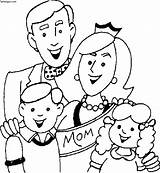 Coloring Printable Happy Mothers Pages Sheet Mother Login Parents Card sketch template