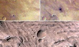 Asteroid crater half the size of football field on Mars ...