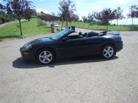 buy  black  black manual  mitsubishi eclipse spyder gt convertible  door
