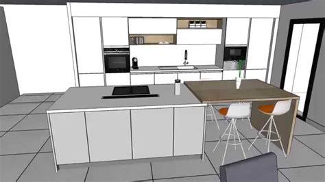 cuisine blanc brillant cuisine moderne laquée blanc brillant avec îlot