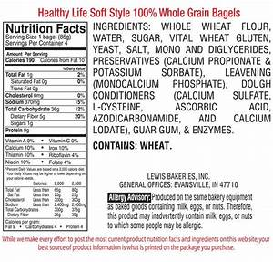 Had it with strict diets? Whole wheat bagel nutrition facts