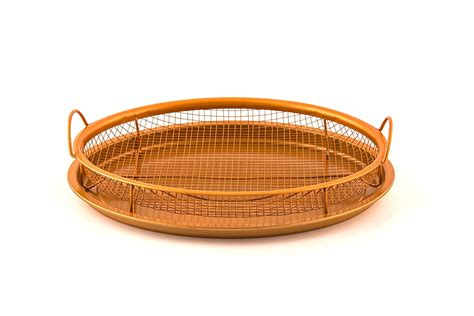 basket air oven fry convection fryer crisper copper pan stick non tray grill deal kitchenanddining