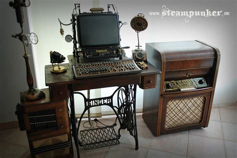 Steampunk computer desk
