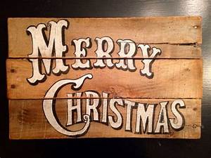 Vintage, Merry, Christmas, Sign, -, Christmas, Decorations, -, Old, Fashioned, Christmas, Decor