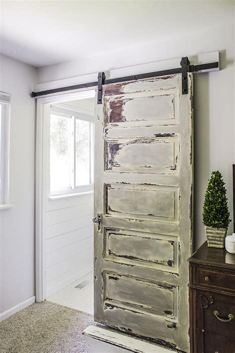 Master Bathroom Barn Door  Shades Of Blue Interiors