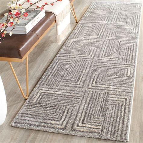 safavieh rug runners safavieh porcello light grey grey 2 ft x 7 ft