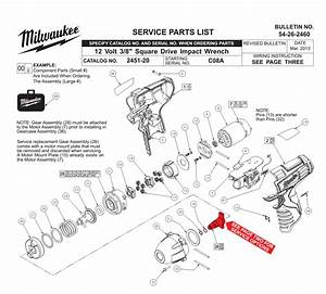 Buy Milwaukee 2451 8 Inch 12 Volt M12 Square Drive With Ring  Bare Tool  Replacement