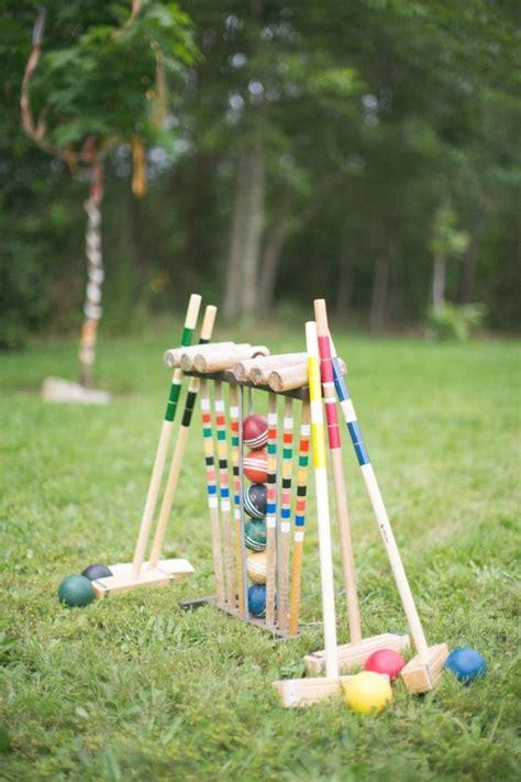 fun outdoor wedding reception lawn game ideas deer