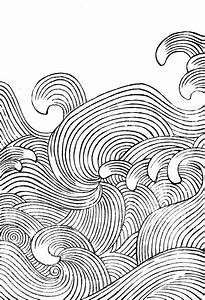 Collection of wave designs by Mori Yuzan from Hamonshu ...