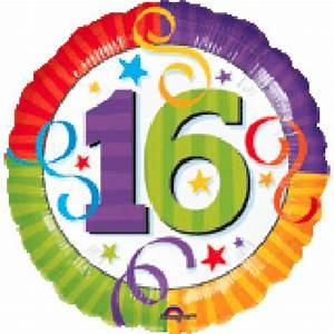 Happy 16th Birthday, 16th Birthday Balloon