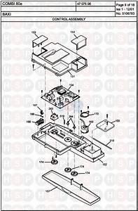 Baxi Combi 80e Appliance Diagram  Control Assembly