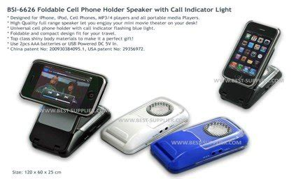 Foldable Cell Phone Holder Speaker With Incoming Call