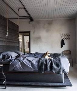 Tete De Lit Bois Clair : 1001 id es top pour d corer une chambre style industriel ~ Teatrodelosmanantiales.com Idées de Décoration