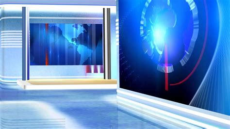 virtual news studio background red  blue hd youtube