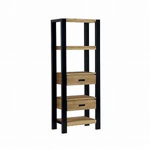 Etagere En Pin : etag re pin massif bross 2 tiroirs 70cm loundge ~ Teatrodelosmanantiales.com Idées de Décoration