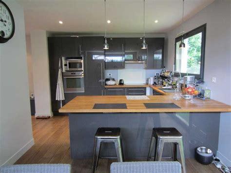 cuisine grise et bois charmant cuisine grise et bois et cuisine design sans