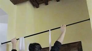 Barre Rideau Fixation Plafond : barre rideau sans percage pas cher ~ Premium-room.com Idées de Décoration