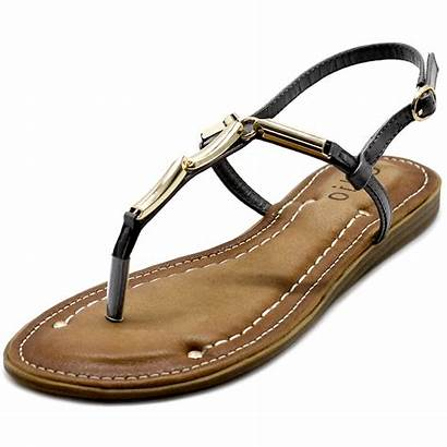 Sandals Flat Zori Comfort Shoes Metallic Strap