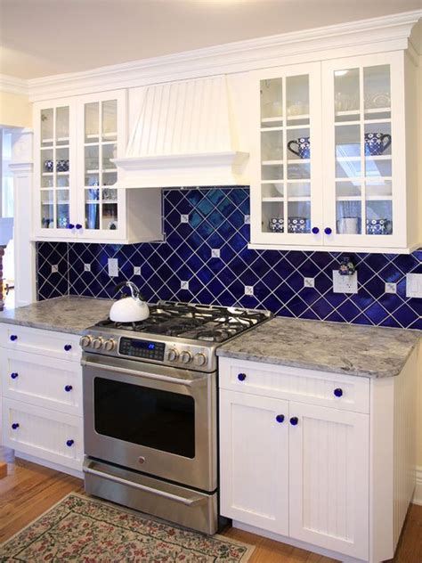 blue and white kitchen tiles spruce up your home with color blue tiles for the 7932