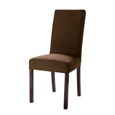 housse de chaise maison du monde housse de chaise en microfibre chocolat margaux maisons