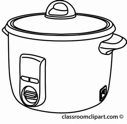 Pot Outline Rice Clipart Crock Cooker Cooking