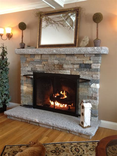 Stone Look Fireplace Home Design