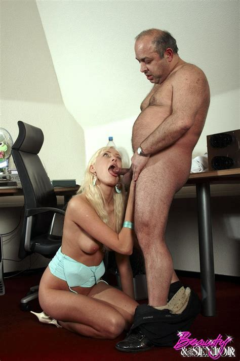 Older Fat Guy Screws His Dick Into Hot Blon Xxx Dessert Picture