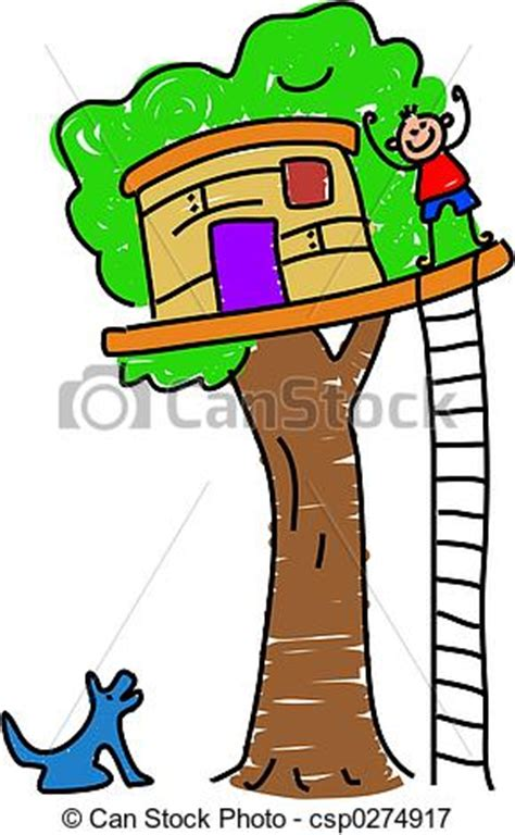 free a frame house plans stock illustrations of my tree house boy waving