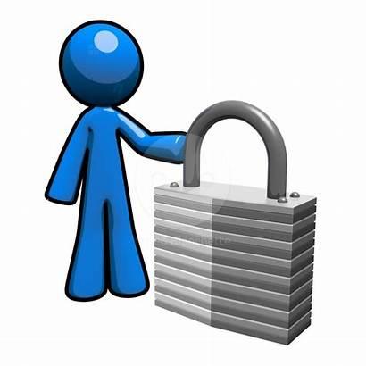 Security Clip Clipart Computer Cliparts 3d Data