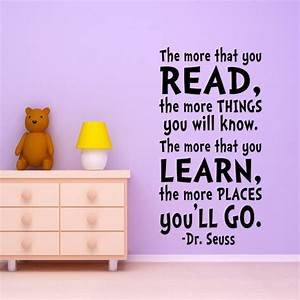 kids wall art dr seuss quote wall decal from happy wallz With good look dr seuss quotes wall decals