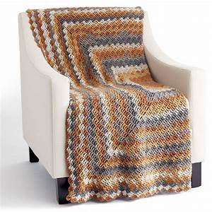 Caron U00ae Big Cakes U2122 Stacking Blocks Crochet Blanket In Tiramisu