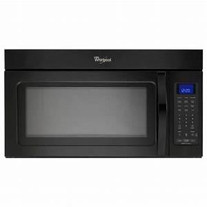 Whirlpool 1 9 Cu  Ft  Over The Range Microwave In Black