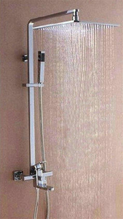 big led square shower head bathroom rainfall shower