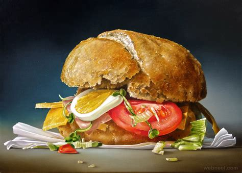 sandwich realistic oil paintings  tjalf sparnaay