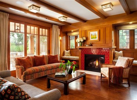 hawthorne craftsman craftsman living room san
