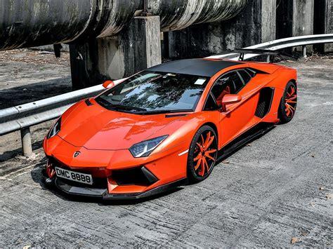 Lamborgini Aventador Orange Tuning Vehicles Wallpapers