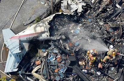 Crash Plane Dead Crashes Wreckage Tokyo Killed