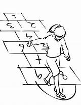 Hopscotch Coloring Pages Template Hopping Sketch Goes Bad Play sketch template