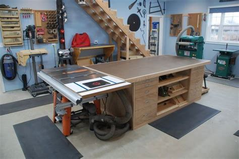 outfeed table     woodworking shop layout